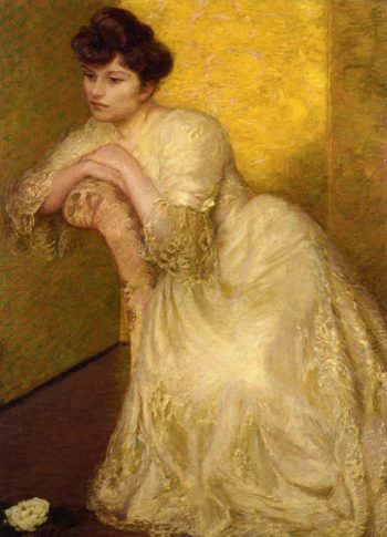 The Yellow Screen | Lilla Cabot Perry | oil painting