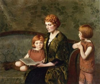 The Story Hour | Lilla Cabot Perry | oil painting