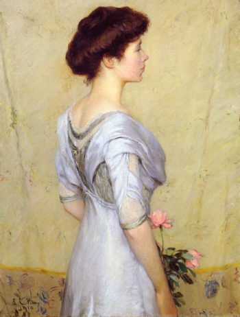 The Pink Rose | Lilla Cabot Perry | oil painting