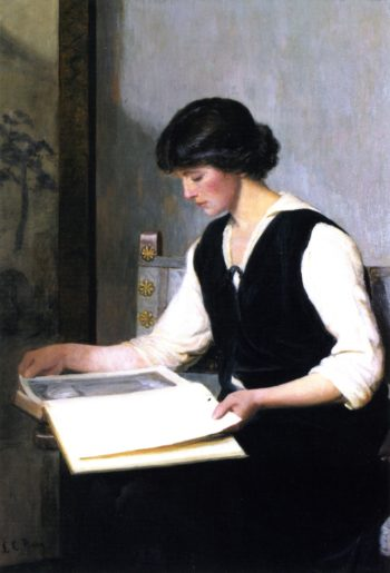 Reading | Lilla Cabot Perry | oil painting