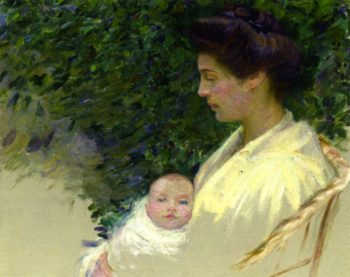 Mother and Baby | Lilla Cabot Perry | oil painting