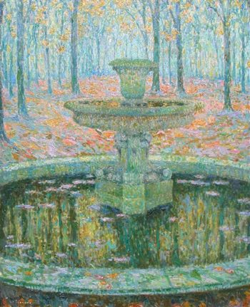 The Fountain | Henri Le Sidaner | oil painting