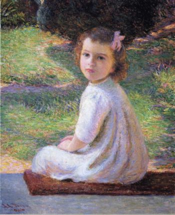 Girl with a Pink Bow | Lilla Cabot Perry | oil painting