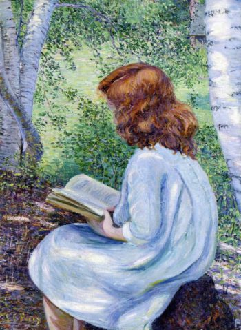 Child with Red Hair Reading | Lilla Cabot Perry | oil painting