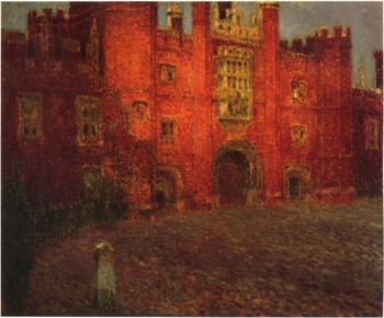 The Great Gate at Hampton Court | Henri Le Sidaner | oil painting
