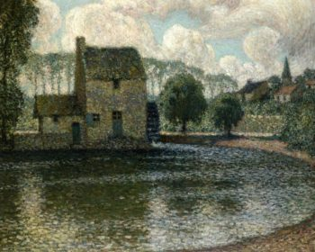 The Grey Mill Montreuil Bellay | Henri Le Sidaner | oil painting