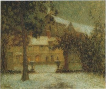 The House in the Snow | Henri Le Sidaner | oil painting