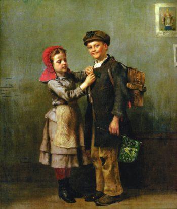 Saint Patricks Day | John George Brown | oil painting