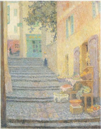 The Italian Boutique | Henri Le Sidaner | oil painting