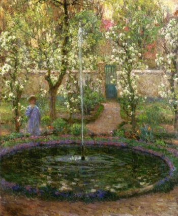 The Jet of Water | Henri Le Sidaner | oil painting