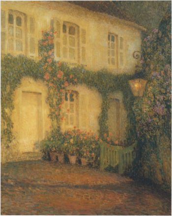 The Lantern at Gerberoy | Henri Le Sidaner | oil painting