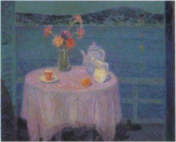 The Mauve Tablecloth | Henri Le Sidaner | oil painting