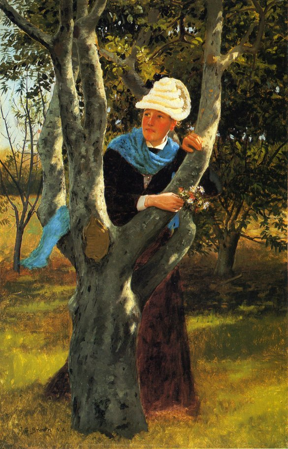 Among the Trees | John George Brown | oil painting