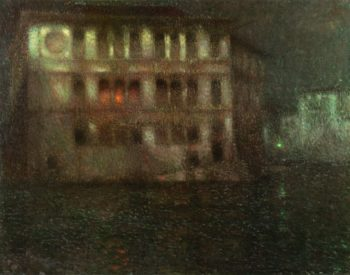 The Old Palace Moonlight Venice | Henri Le Sidaner | oil painting