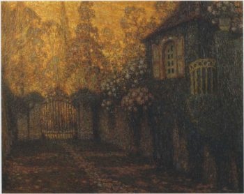 The Pavillion and the Alley | Henri Le Sidaner | oil painting