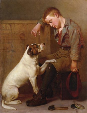 Best Friends | John George Brown | oil painting