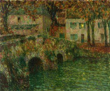The Pond de Pierre | Henri Le Sidaner | oil painting