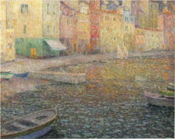 The Quay in Twilight | Henri Le Sidaner | oil painting