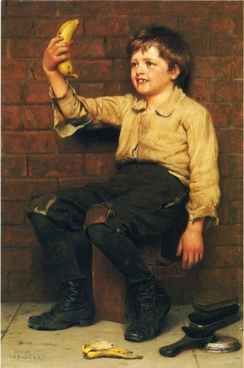 Banana Boy | John George Brown | oil painting