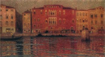The Red Palace in Venice | Henri Le Sidaner | oil painting