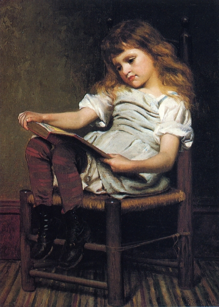 A Leisure Hour | John George Brown | oil painting