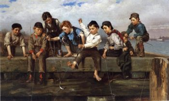 A Thrilling Moment | John George Brown | oil painting