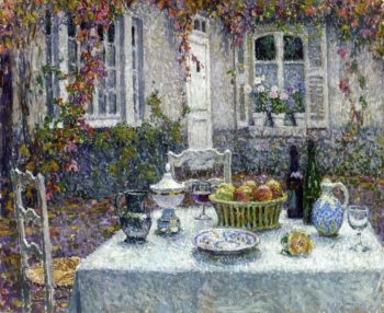 The Small Table | Henri Le Sidaner | oil painting