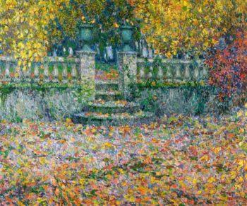 The Terrace Autumn Gerberoy | Henri Le Sidaner | oil painting