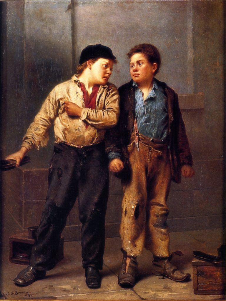 When Greek Meets Greek Then Comes the Tug of War | John George Brown | oil painting