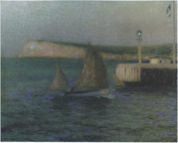 The Treport Jetty | Henri Le Sidaner | oil painting