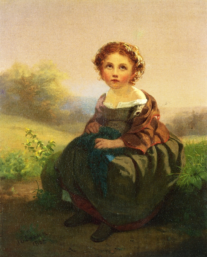 Thoughts by the Wayside | John George Brown | oil painting