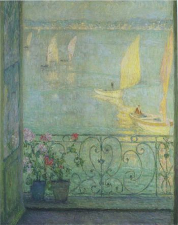 The Window at Croisic | Henri Le Sidaner | oil painting