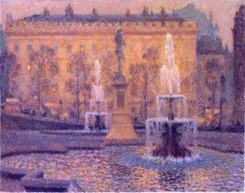 Trafalgar Square | Henri Le Sidaner | oil painting