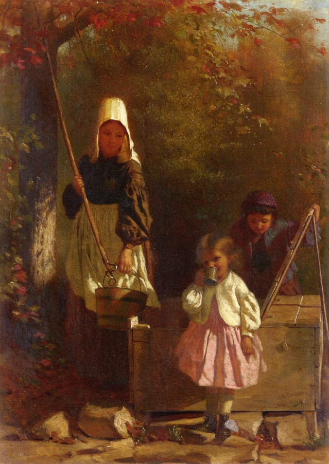 The Tin Cup | John George Brown | oil painting
