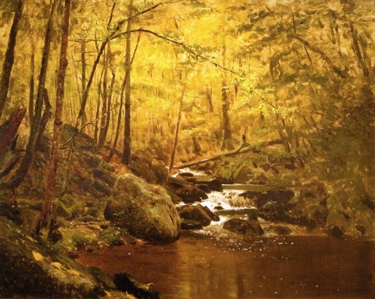 The Running Brook | John George Brown | oil painting