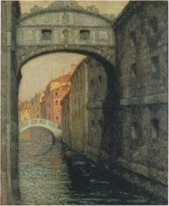 Venice the Canal of Sighs | Henri Le Sidaner | oil painting