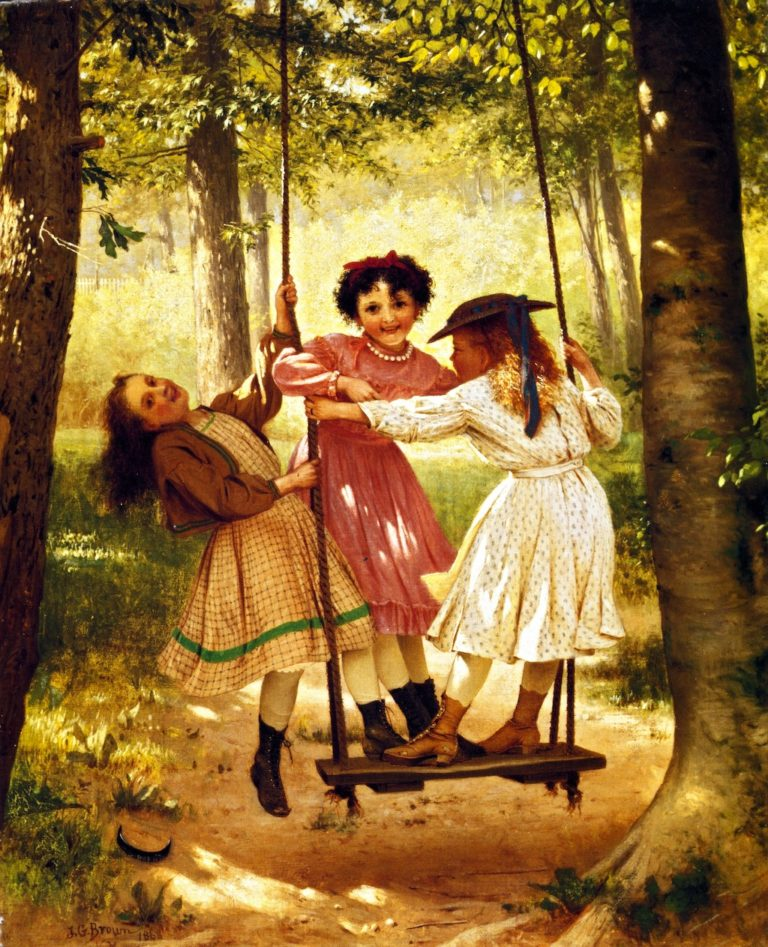 The Three Tomboys | John George Brown | oil painting