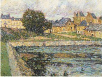 Village at Bellay | Henri Le Sidaner | oil painting