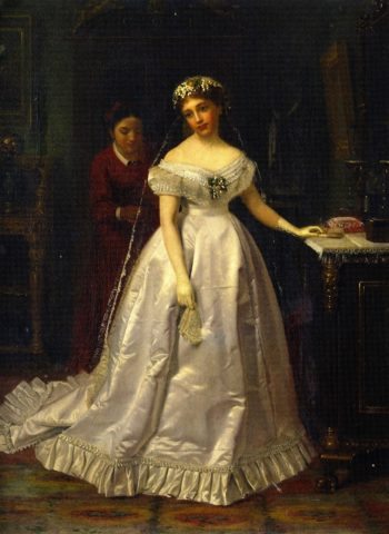 The Reluctant Bride | John George Brown | oil painting