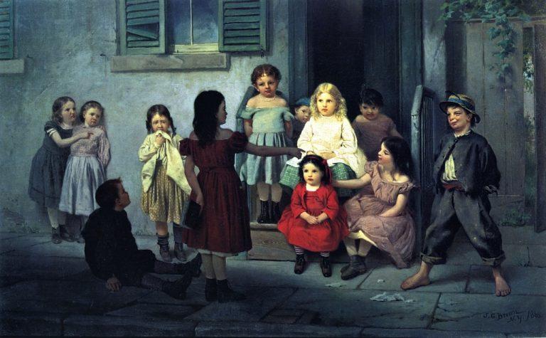 The Teacher | John George Brown | oil painting