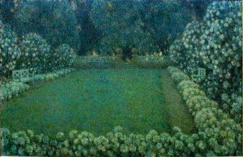 White Garden in Twilight | Henri Le Sidaner | oil painting