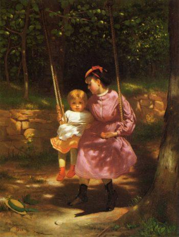 The Swing 2 | John George Brown | oil painting