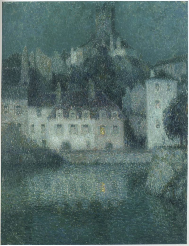 White houses at Quimperle | Henri Le Sidaner | oil painting