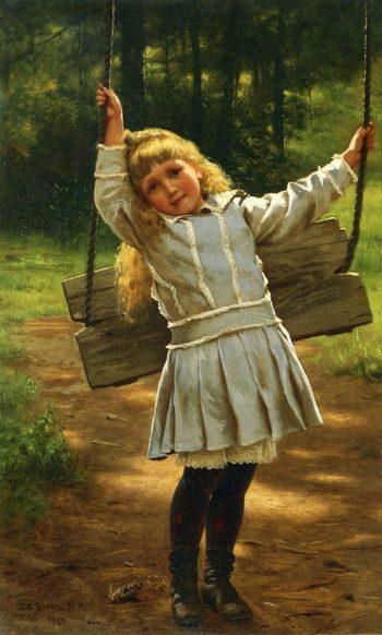 The Swing | John George Brown | oil painting