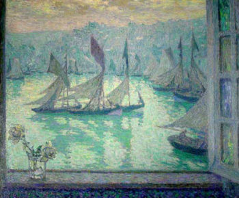 Window at the Port of Honfleur | Henri Le Sidaner | oil painting