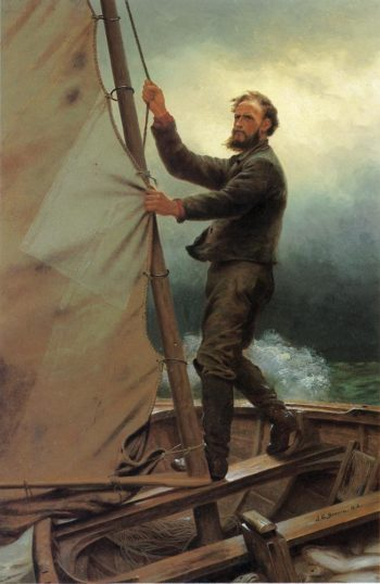The Coming Squall | John George Brown | oil painting