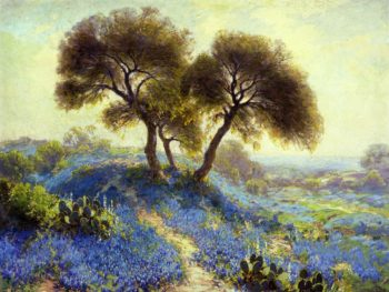 A Spring Morning Bluebonnets San Antonio | Julian Onderdonk | oil painting