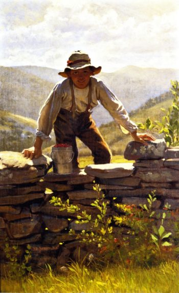 The Berry Boy | John George Brown | oil painting