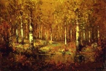 Autumn Birches Central Park | Julian Onderdonk | oil painting
