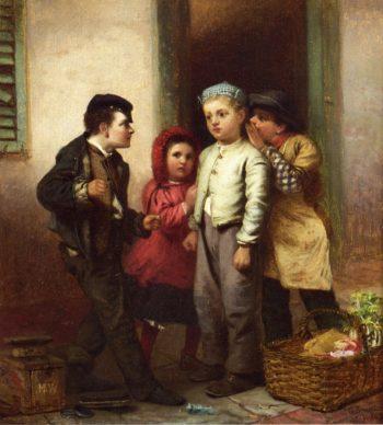Sorry He Spoke | John George Brown | oil painting